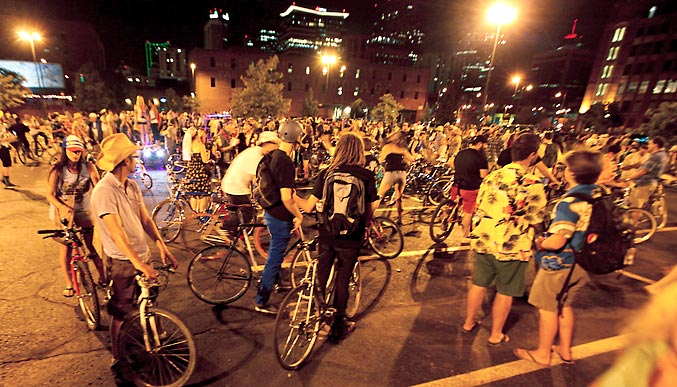 We Love Riding Bikes, and how freaking cool would it be to have Wednesday's be car free?